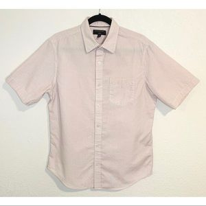 Banana Republic pink & white gingham shirt medium